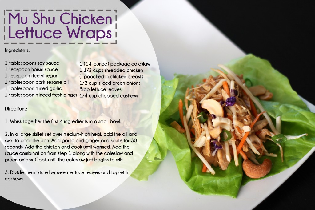 Mu Shu Chicken Wraps